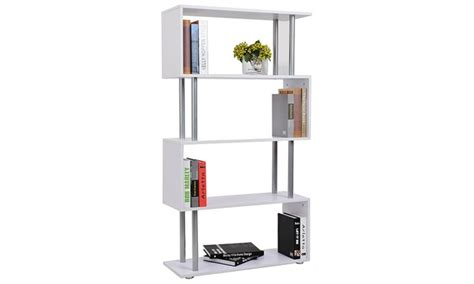 wooden s shaped bookcase groupon goods