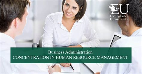 Mba With Concentration In Human Resource Management by Mba In Human Resources Program Everglades