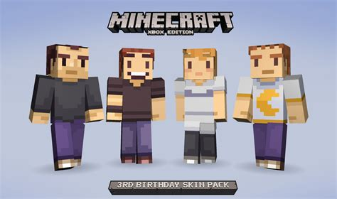 Minecraft xbox 360 edition s birthday with some free skins vg247