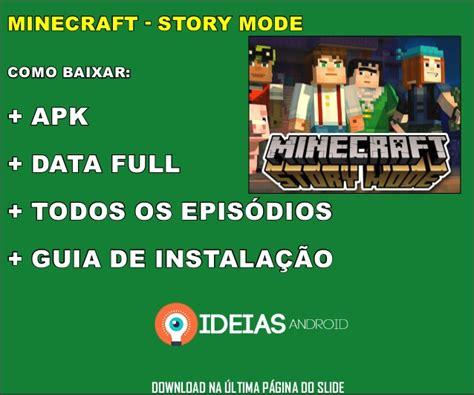 minecraft apk torrent minecraft story mode apk data torrent todos os epis 243 dios