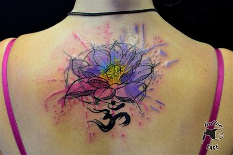 watercolor tattoo upper back 49 watercolor lotus tattoos ideas