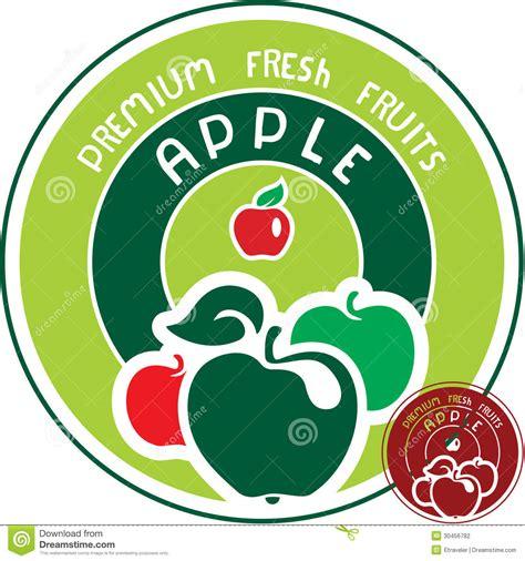 design a label on mac apple label stock vector illustration of design label