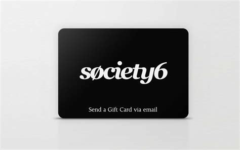 Society6 Gift Card - best gifts ideas for couples travel leisure