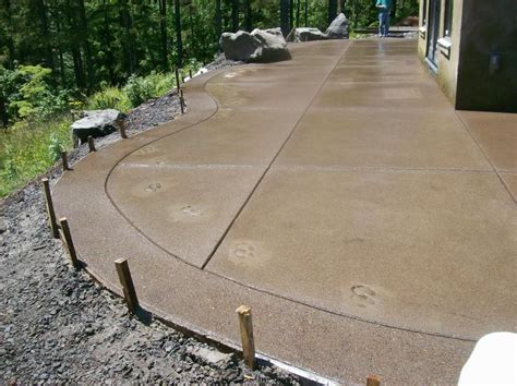 concrete finishes for patios sand aggregate concrete patio search backyard