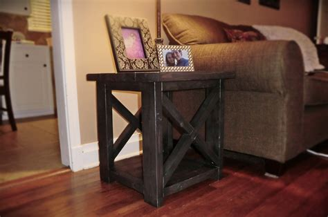 rustic x end table white smaller rustic x end table diy projects