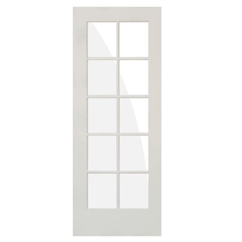 Primed Interior Doors Krosswood Doors 24 In X 80 In 10 Lite Solid Mdf Primed Interior Door Slab Kw Sh420 2068