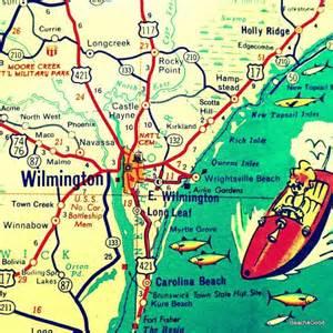 carolina coastal map wilmington map wilmington carolina map wall nc