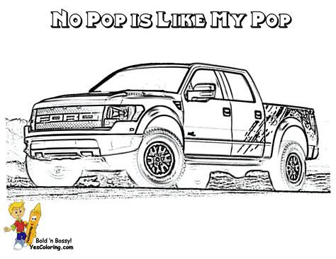 F150 Coloring Page by Ford F 150 Truck Coloring Pages
