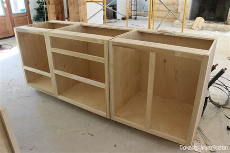 Diy Build Kitchen Cabinets by Cabinet Beginnings Domestic Imperfection