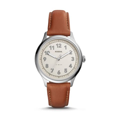 fossil 2258g light brown avondale three light brown leather fossil