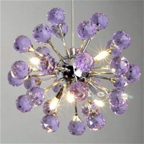 6 light floral shape k9 ceiling light purple 9004