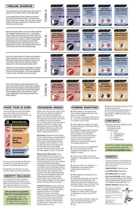 printable rules for card games bttf the card game rules looney labs