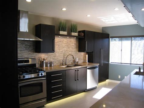 Modern Kitchen With Black Appliances Mid Century Modern Kitchen Cabinets Recommendation Homesfeed