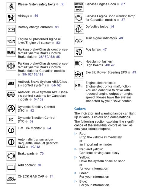 bmw 3 series warning symbols list light on dash bulb with an in it z4 forum