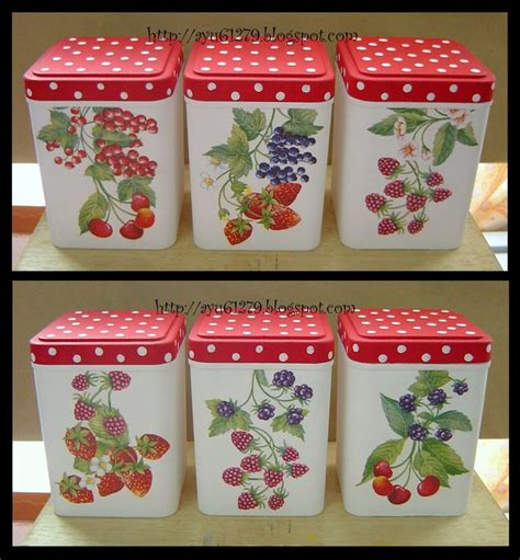 Decoupage On Plastic - plastic container my decoupage