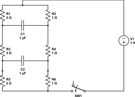 resistor and capacitor circuit how to deal with a complex circuit of resistors and capacitors electrical engineering stack