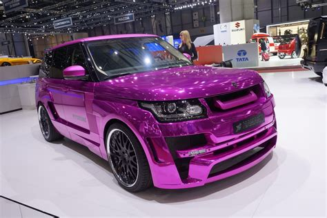 pink chrome hamann pink chrome range rover sport mystere car tuning