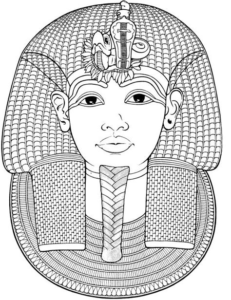 egyptian mandala coloring pages icolor quot around the world quot egypt funerary mask of