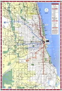 Chicago Truck Routes Map by Chicago L Org System Maps Route Maps