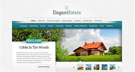 elegant themes gallery page elegantestate real estate wordpress theme