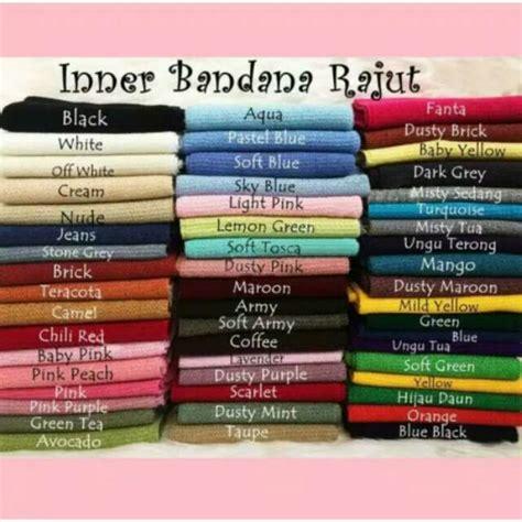 Bandana Rajut Jumbo Taupe iner bandana ciput rajut premium motif bambo shopee