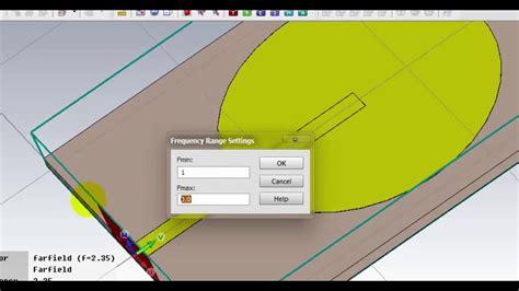 simulation of antenna circular 2 35 ghz using cst studio suite
