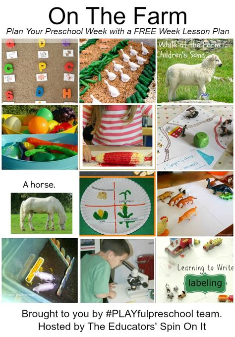 Farm Theme Home Preschool Lesson Preschool Activities Farm Theme Make A Mystery Animal