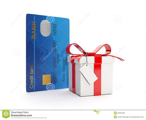 Credit Card Gift Box - credit card and gift box royalty free stock images image 25945469