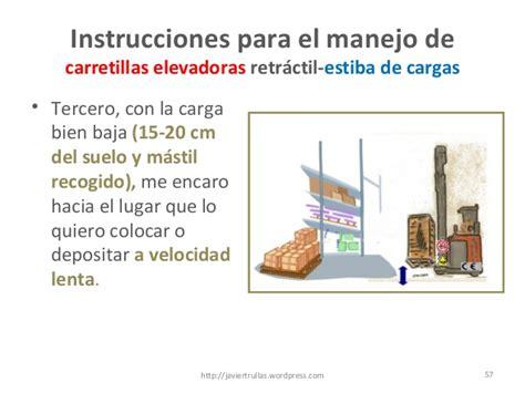 instrucciones para salvar el 8420473790 instrucciones para el manejo de carretillas elevadoras retr 225 ctiles