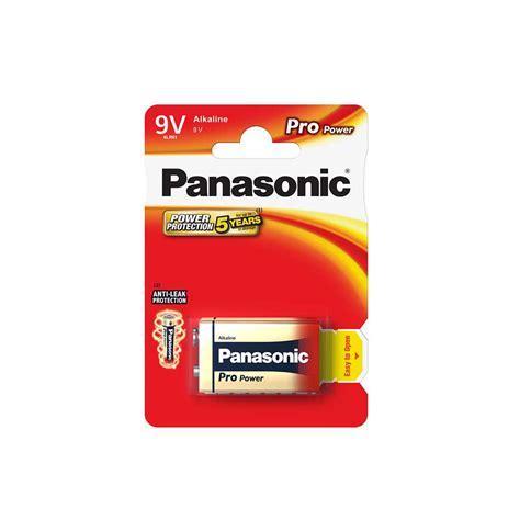 Motorrad Batterie 9v by Panasonic Pro Power Alkali 9v Block Batterie 6lr61ppg 1bp