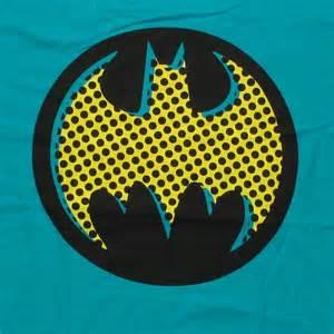 batman pop art logo shirt sheer
