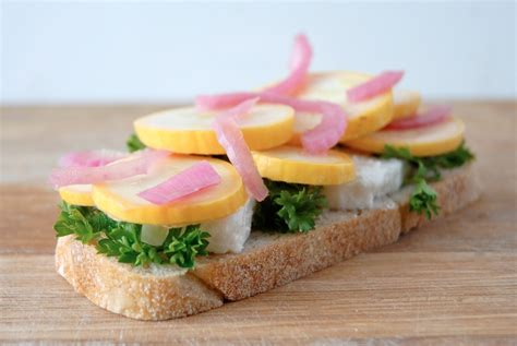 Detox Grilled Cheese by The Detox Goat Feta Pickled Squash Pickled