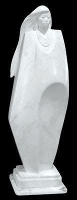 Marble White Rolemodel by The Sculpture Of Oreland Joe Ca Road Arts