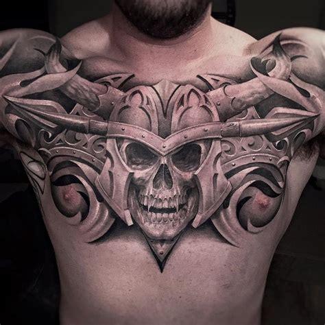 tattoo chest skull vire skull chest tattoo http tattooideas247 com