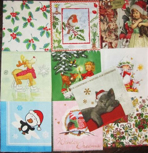Serviettes For Decoupage - 100 paper napkins for decoupage theme