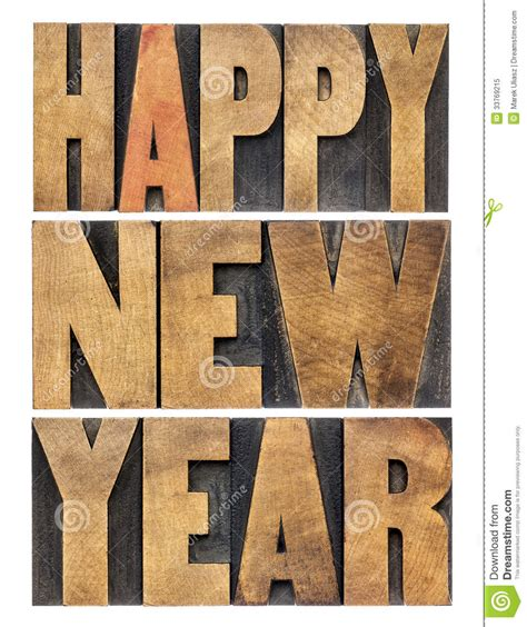 new year wood happy new year in wood type royalty free stock photo