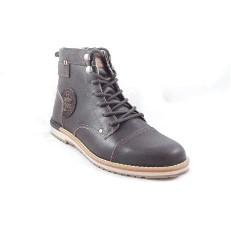 mens lace up boot pasadena brown leather mens lace up boot from