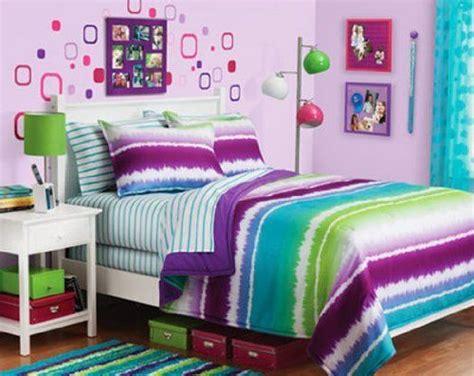 teen girl bed in a bag purple blue green tie dye teen girls full comforter set