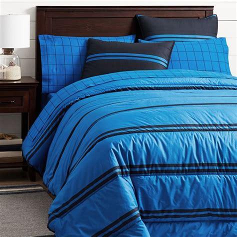 navy striped bedding riverside stripe comforter sham navy strong blue pbteen