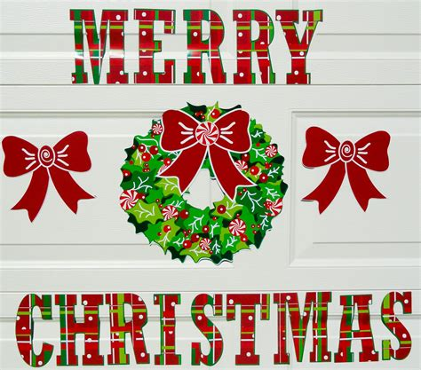 garage door magnets christmas decorations wageuzi