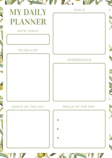 make your own printable daily planner customize 310 planner templates online canva