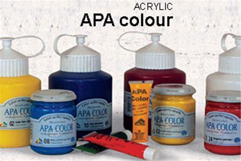 apa arti water apar acrylic paints
