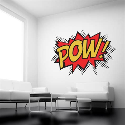 superheroes wall stickers pow colour punch wall stickers wall stickers