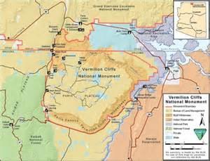 the wave arizona map vermilion cliffs national monument