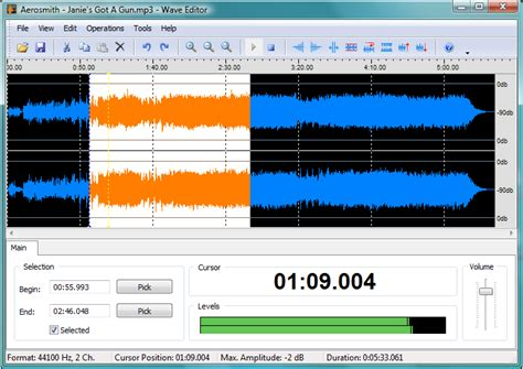 audio format editor online wave editor
