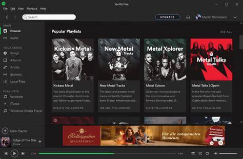 spotify full version gratis spotify free opens web browser ads ghacks tech news