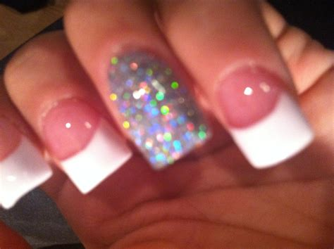 tips design white french tip acrylic youtube