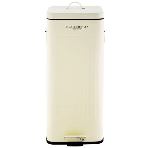 bentley cream charles bentley 30l retro steel square kitchen bin