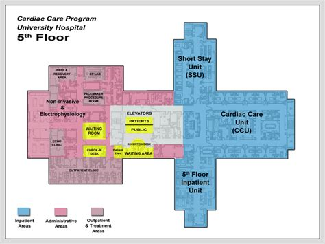 layout for university cardiac care floor layouts