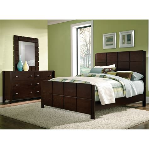 Mosaic 5 Piece King Bedroom Set Dark Brown American Bed Room Furniture